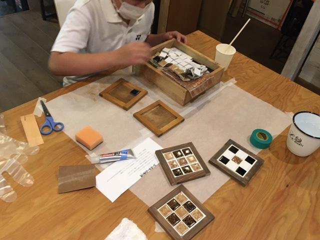 京都ワークショップ人気手作りコースター