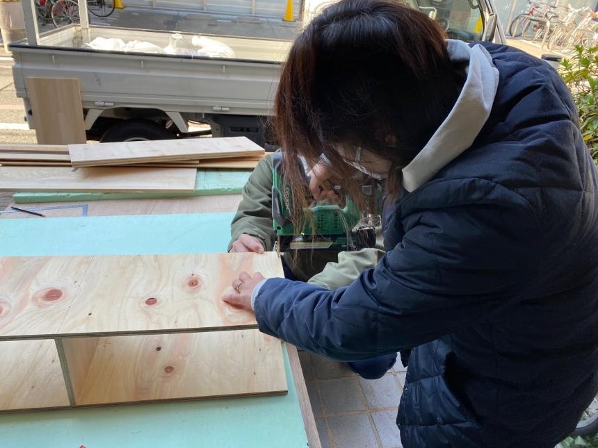 DIYで「トイレラック」制作中\(^o^)/