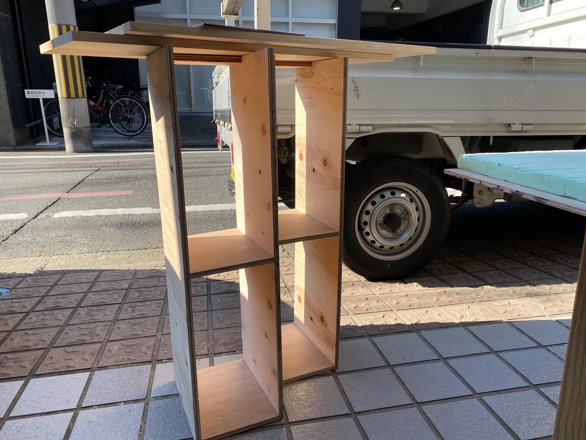 DIYトイレラックづくり京都