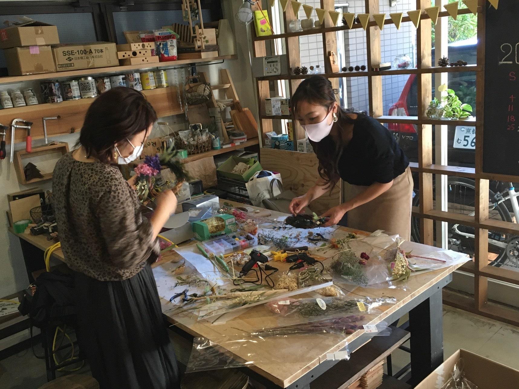 京都DIY クリスマスリース,京都,ワークショップ体験