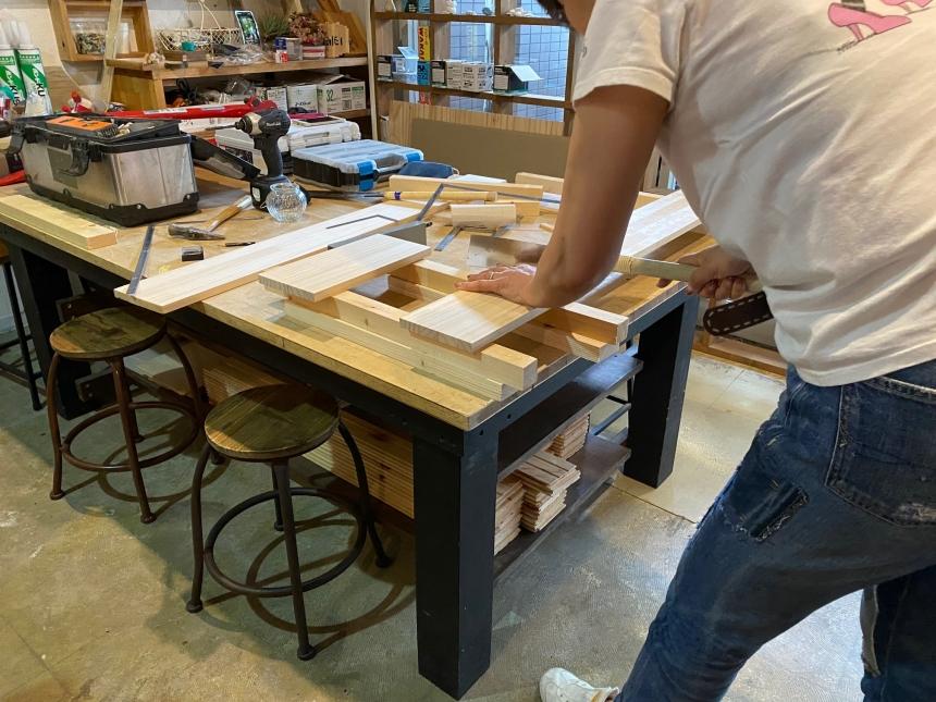 「特訓中」 DIY基本工具。