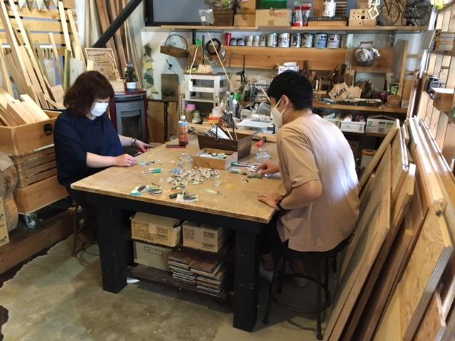 京都ワークショップ人気,モザイクタイル