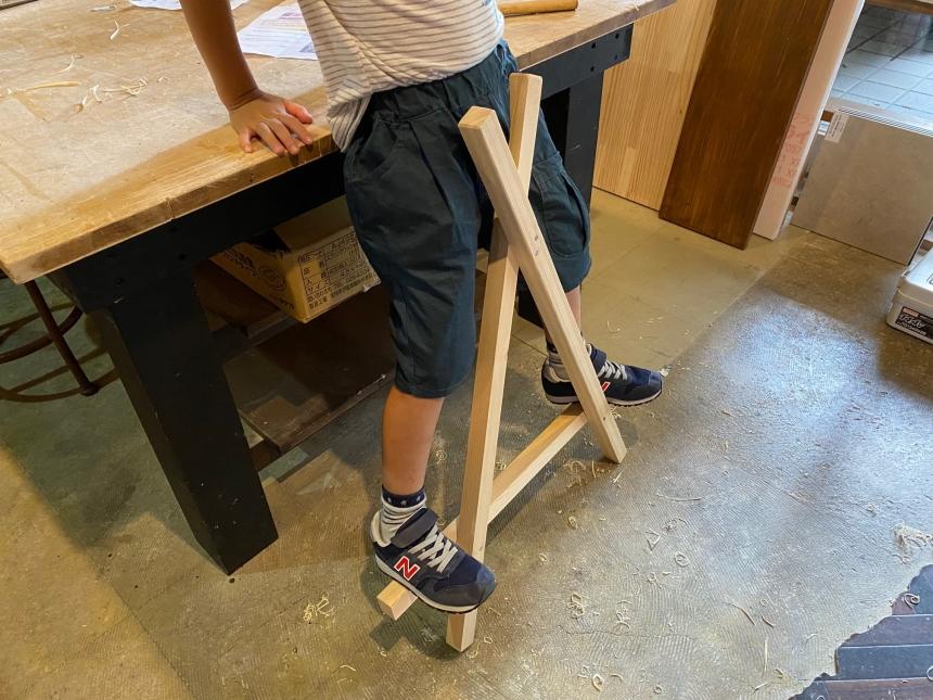 DIY体験教室「三角竹馬」づくり