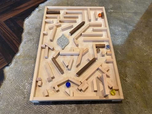 DIY体験教室「迷路ゲーム」づくり