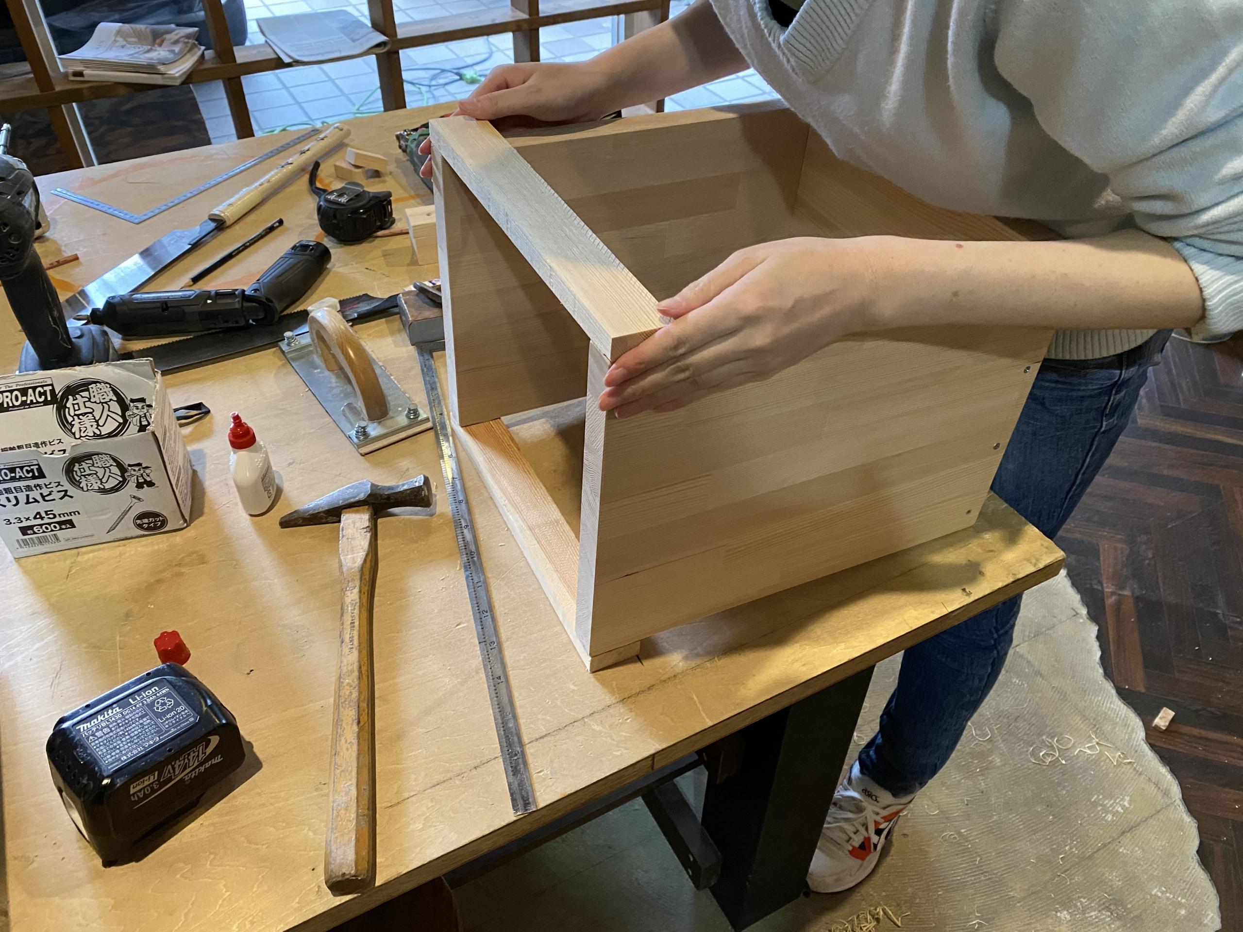 京都で木工DIY体験